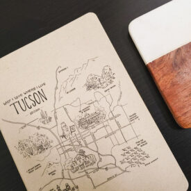 Tucson journal from Why I Love Where I Live with coaster